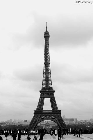 Wall Art, Paris Eiffel Tower | Black & White, - PosterGully
