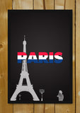 Glass Framed Posters, Paris Red, White & Blue Glass Framed Poster, - PosterGully - 1
