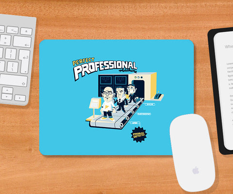 Mousepads, Perfect Professional Machine - Blue Mousepad | By Captain Kyso, - PosterGully