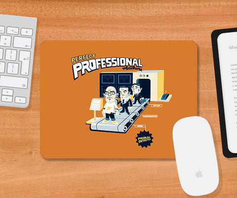 Mousepads, Perfect Professional Machine - Orange Mousepad | By Captain Kyso, - PosterGully