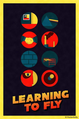 Wall Art, Pink Floyd | Learning To Fly | Color, - PosterGully