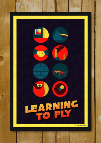 Glass Framed Posters, Pink Floyd | Learning To Fly | Color | Glass Framed Poster, - PosterGully - 1