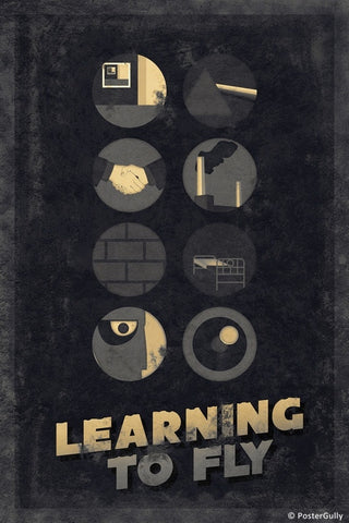 Wall Art, Pink Floyd | Learning To Fly | Sepia, - PosterGully