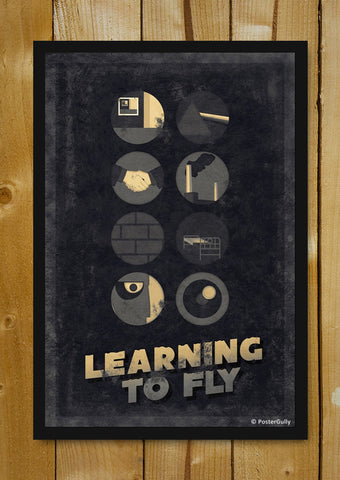 Glass Framed Posters, Pink Floyd | Learning To Fly | Sepia | Glass Framed Poster, - PosterGully - 1