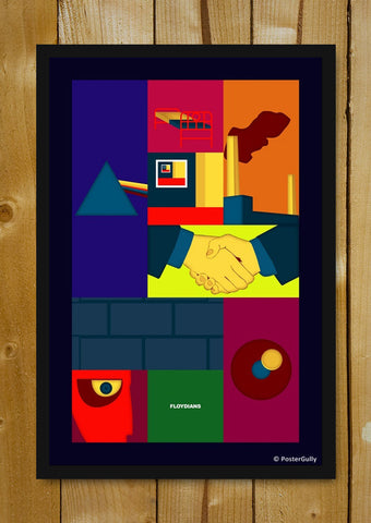 Glass Framed Posters, Pink Floyd | Minimal | Glass Framed Poster, - PosterGully - 1