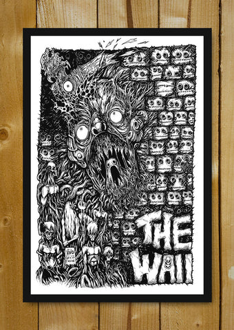 Glass Framed Posters, Pink Floyd The Wall Line Art Glass Framed Poster, - PosterGully - 1
