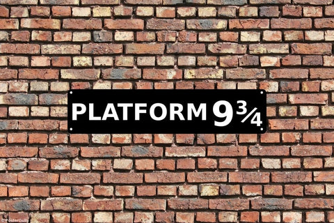 Wall Art, Platform 9 3/4 Harry Potter, - PosterGully