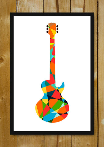 Glass Framed Posters, Pop Art Guitar Glass Framed Poster, - PosterGully - 1