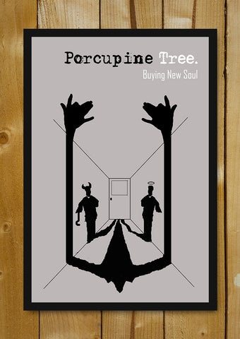 Glass Framed Posters, Porcupine Tree Album Minimal Glass Framed Poster, - PosterGully - 1