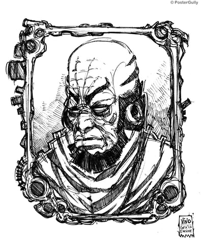 Wall Art, Portrait Of Lex Line Art, - PosterGully