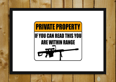 Glass Framed Posters, Private Property Glass Framed Poster, - PosterGully - 1