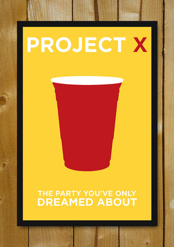 Glass Framed Posters, Project X Minimal Art Glass Framed Poster, - PosterGully - 1