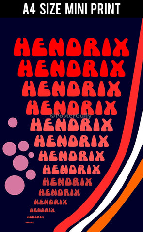 Mini Prints, Psychedelic Hendrix | Mini Print, - PosterGully