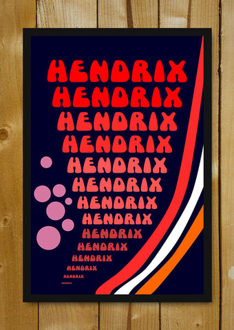 Glass Framed Posters, Psychedelic Hendrix Glass Framed Poster, - PosterGully - 1