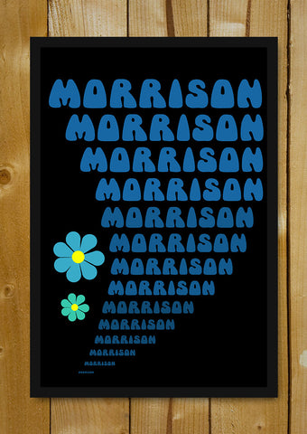 Glass Framed Posters, Psychedelic Morrison Glass Framed Poster, - PosterGully - 1