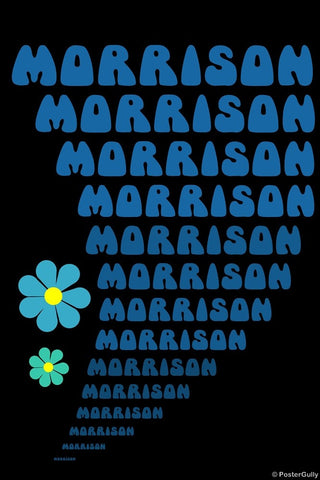 Wall Art, Psychedelic Morrison, - PosterGully