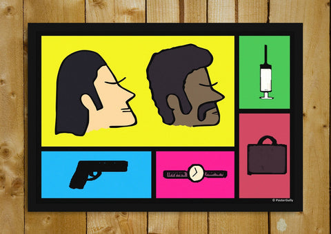 Glass Framed Posters, Pulp Fiction | Pop Art | Glass Framed Poster, - PosterGully - 1