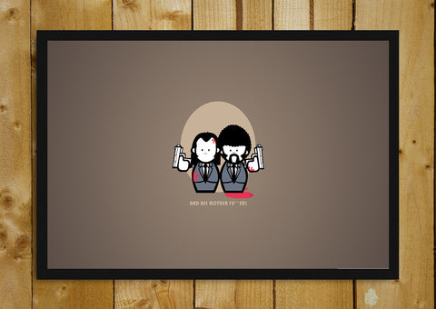 Glass Framed Posters, Pulp Fiction Cartoon Characters Glass Framed Poster, - PosterGully - 1