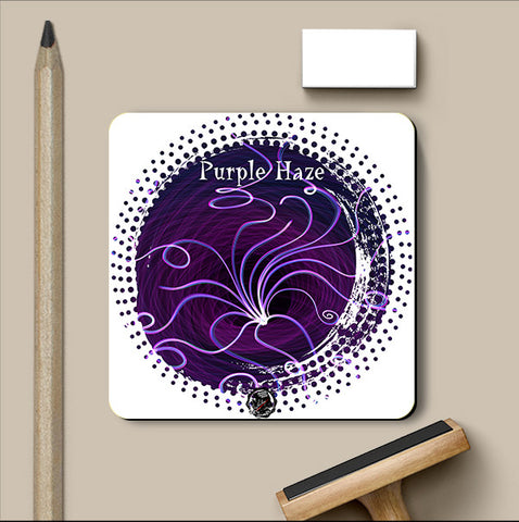 PosterGully Coasters, Purple Haze Coaster | Artist: Devraj Baruah, - PosterGully