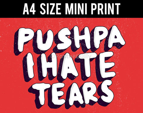Mini Prints, Pushpa I Hate Tears | Amar Prem | Mini Print, - PosterGully