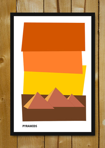 Glass Framed Posters, Pyramids Egypt Glass Framed Poster, - PosterGully - 1