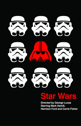 PosterGully Specials, Star Wars | Red & White, - PosterGully