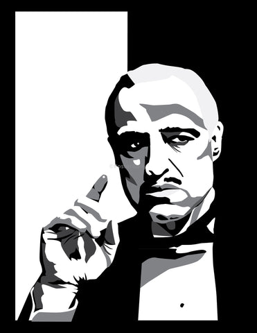 PosterGully Specials, The Godfather | Minimal B & W Art, - PosterGully