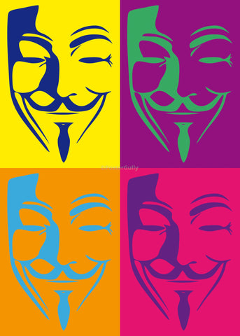 PosterGully Specials, V For Vendetta | Pop Art, - PosterGully