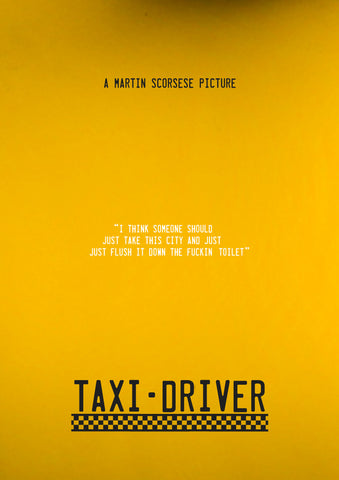 PosterGully Specials, Taxi Driver | Minimal Art, - PosterGully