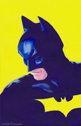 PosterGully Specials, Batman | Blue & Yellow, - PosterGully