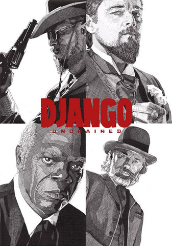 PosterGully Specials, Django Unchained | Pen Art, - PosterGully