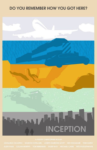 PosterGully Specials, Inception | Minimal Movie Poster, - PosterGully