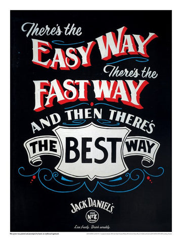 PosterGully Specials, Jack Daniels | The Best Way, - PosterGully