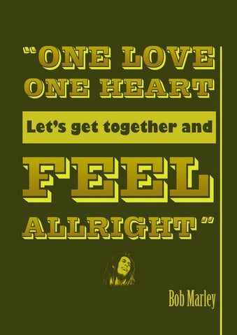 PosterGully Specials, Bob Marley | Feel Allright, - PosterGully