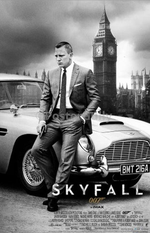 PosterGully Specials, Skyfall 007 | B&W, - PosterGully