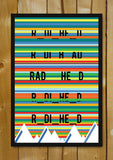 Glass Framed Posters, Radiohead Rainbows Kid A Glass Framed Poster, - PosterGully - 1