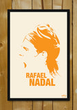 Glass Framed Posters, Rafael Nadal Minimal Art Glass Framed Poster, - PosterGully - 1