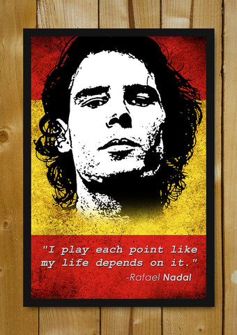 Glass Framed Posters, Rafael Nadal Quote Glass Framed Poster, - PosterGully - 1