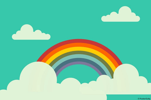 Wall Art, Rainbow And Clouds, - PosterGully