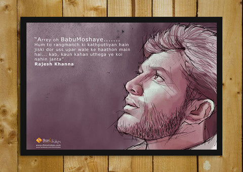 Glass Framed Posters, Rajesh Khanna Tribute Poster Glass Framed Poster, - PosterGully - 1