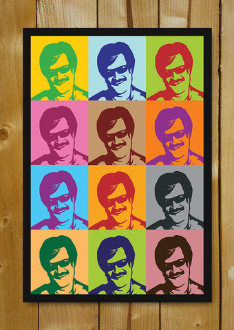 Glass Framed Posters, Rajnikanth Artwork Glass Framed Poster, - PosterGully - 1