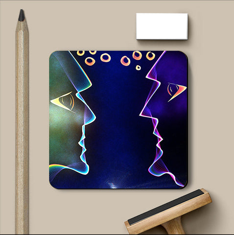 PosterGully Coasters, Read My Mind Coaster | Artist: Devraj Baruah, - PosterGully