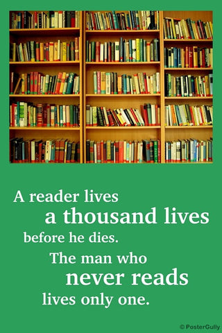 Wall Art, Reading Lives Books, - PosterGully