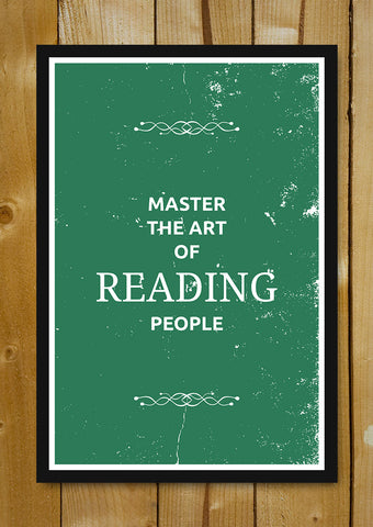 Glass Framed Posters, Reading Suits Glass Framed Poster, - PosterGully - 1