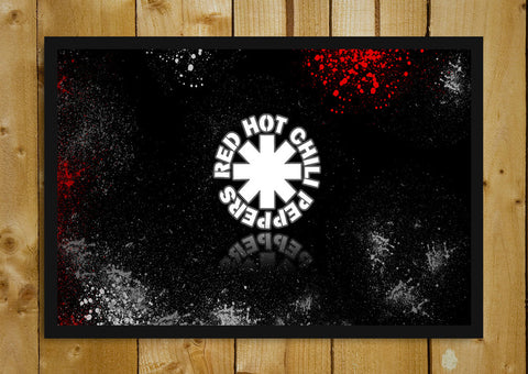 Glass Framed Posters, Red Hot Chilli Peppers Logo Glass Framed Poster, - PosterGully - 1