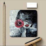 PosterGully Coasters, Red Lips Acrylic Coaster | Artist: Sunanda Puneet, - PosterGully