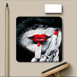 PosterGully Coasters, Red Lips Coaster | Artist: Sunanda Puneet, - PosterGully