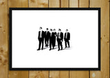 Glass Framed Posters, Reservoir Dogs Minimal Art Glass Framed Poster, - PosterGully - 1
