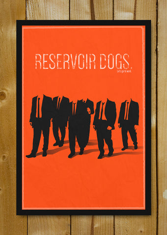 Glass Framed Posters, Reservoir Dogs Minimal Orange Glass Framed Poster, - PosterGully - 1