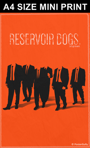 Mini Prints, Reservoir Dogs Minimal Orange | Mini Print, - PosterGully